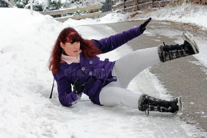 Riesgo de accidentes en invierno imagen de archivo libre de regalías