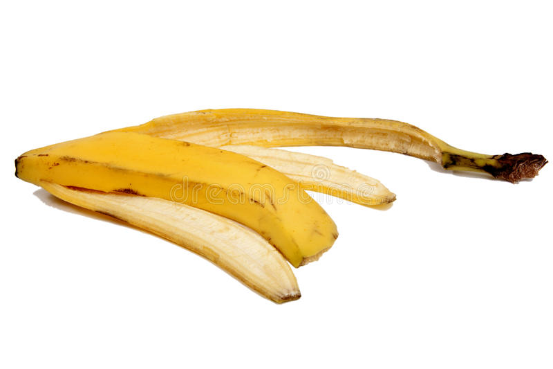 Riesgo de accidentes por la piel de plátano 1 foto de archivo libre de regalías