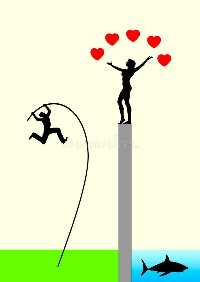 Riesgo de amor ilustración del vector