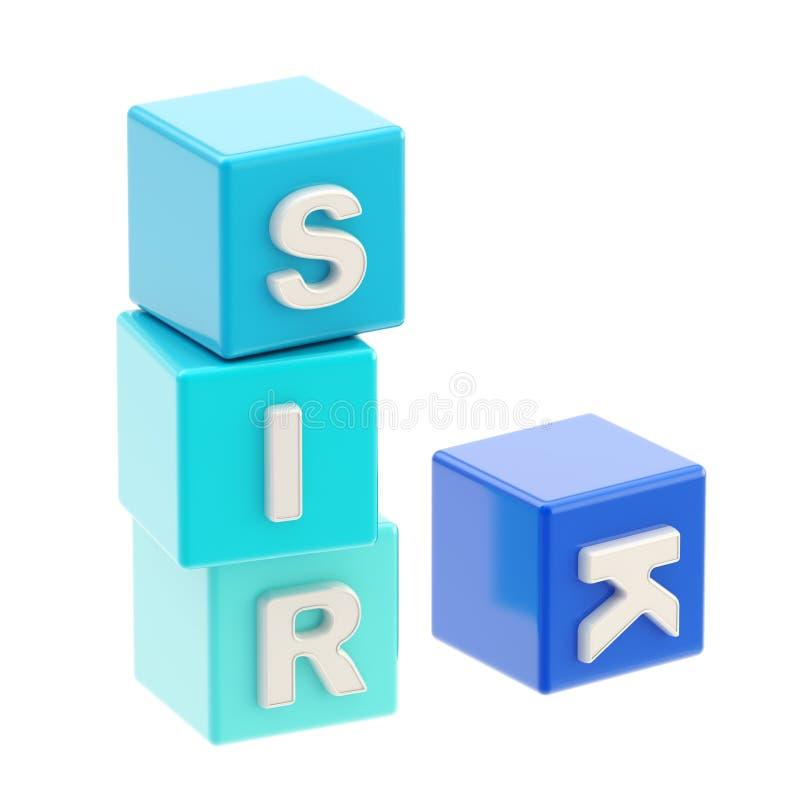 Riesgo de la palabra hecho de los cubos de la carta ilustración del vector