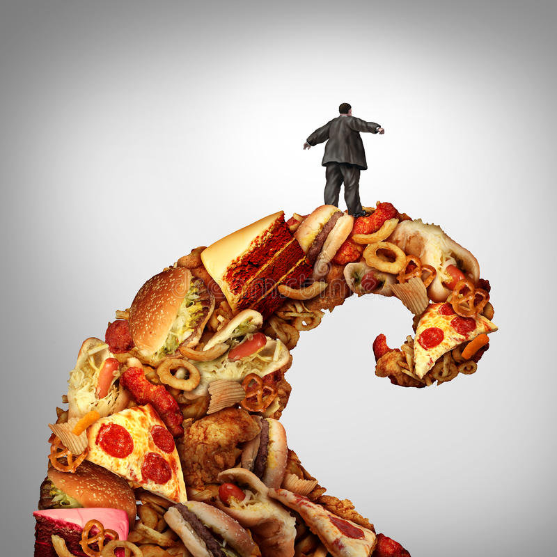 Riesgo para la salud de la obesidad stock de ilustración