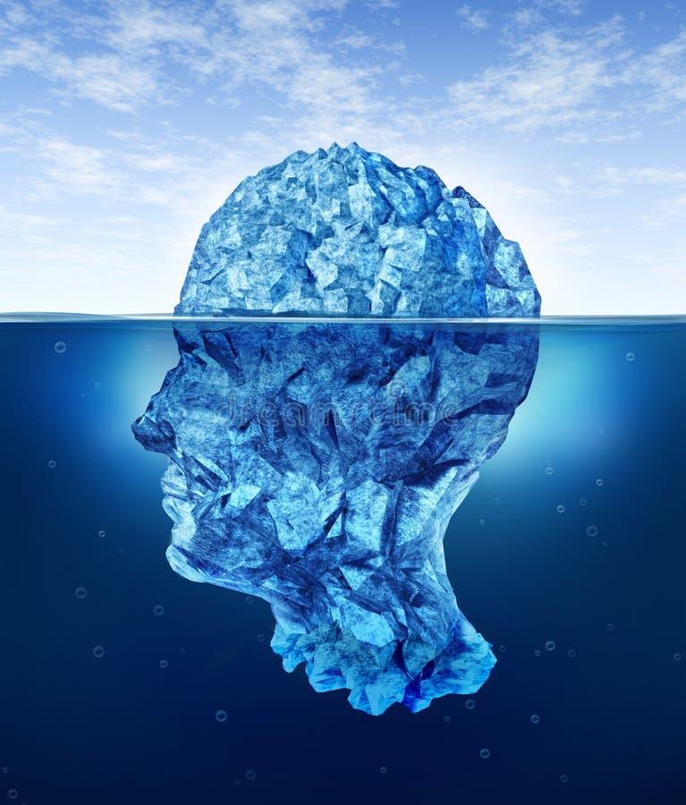 Riesgos del cerebro humano ilustración del vector