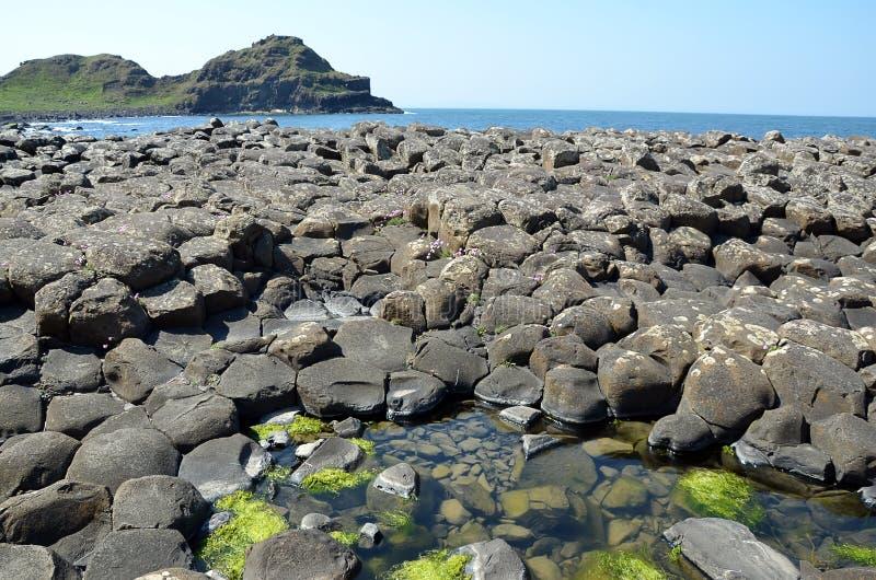 Riesige Dammansichtlandschaft mit Ozean und Klippen in Irland lizenzfreies stockfoto