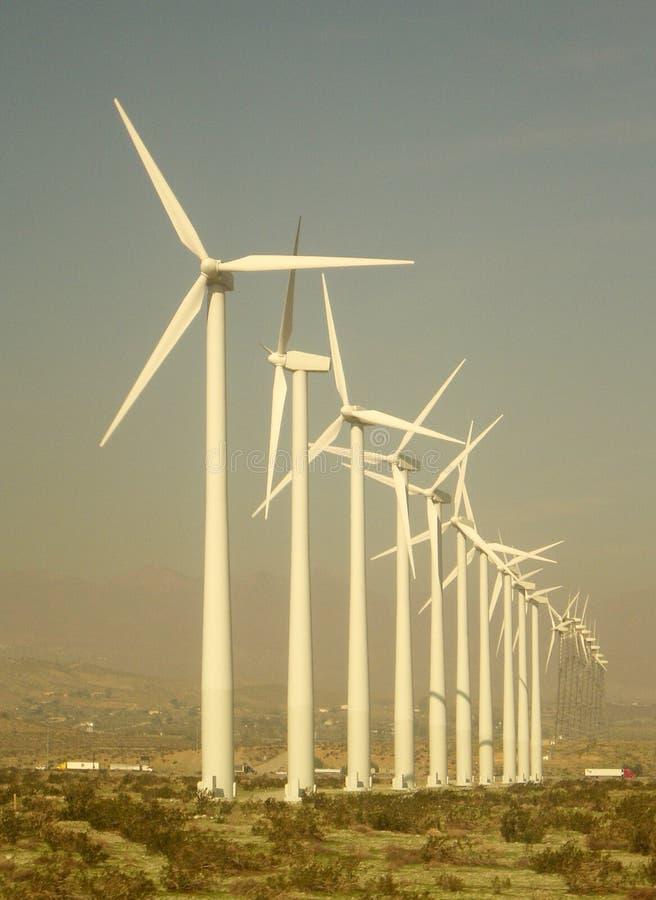 Riesige Windkraftanlagen in West-Texas lizenzfreie stockbilder