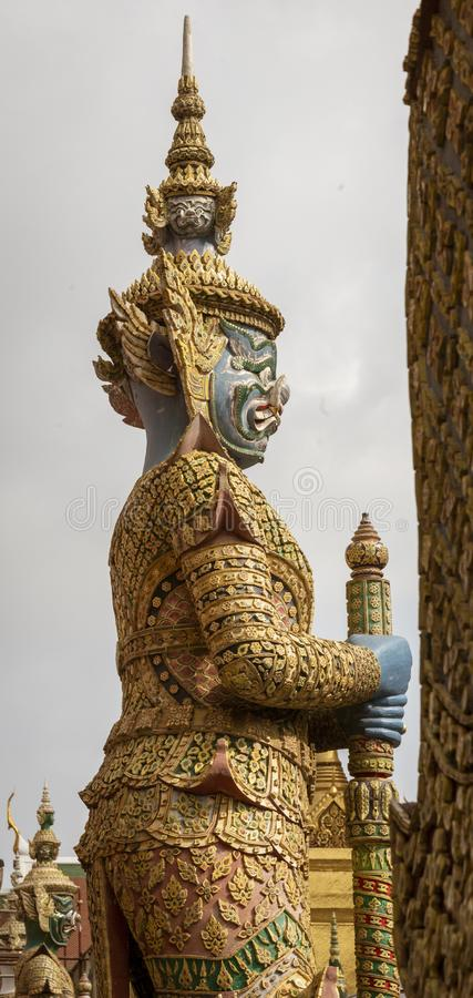 Riesige Yaksha-Dämon-Statue, die Grand Place schützt lizenzfreies stockfoto