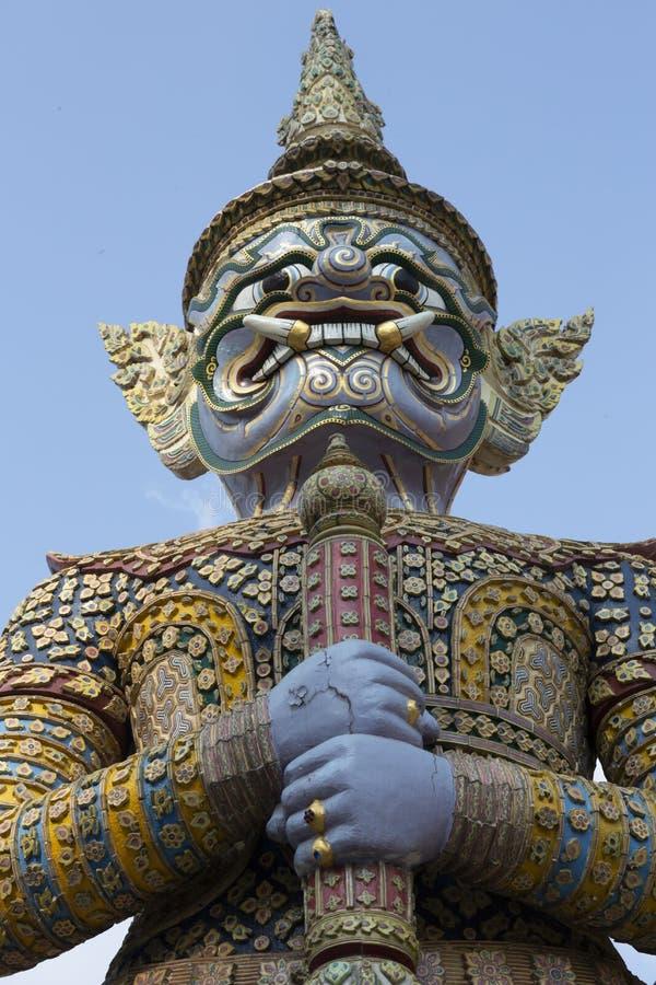 Riesige Yaksha-D?mon-Statue lizenzfreies stockfoto