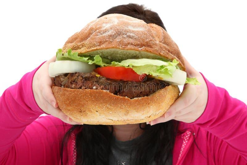 Riesiger Burger stockfotografie