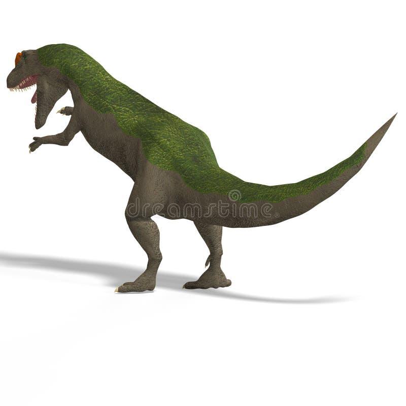 Riesiger DinosaurierAllosaurus mit Ausschnitts-Pfad vorbei lizenzfreie abbildung