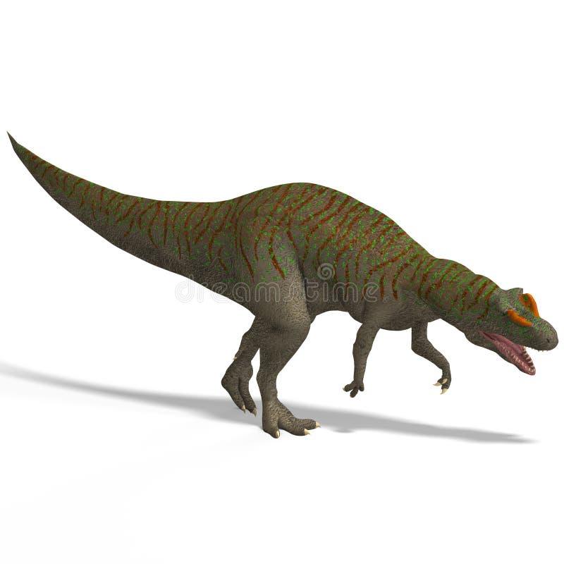 Riesiger DinosaurierAllosaurus mit Ausschnitts-Pfad vorbei vektor abbildung