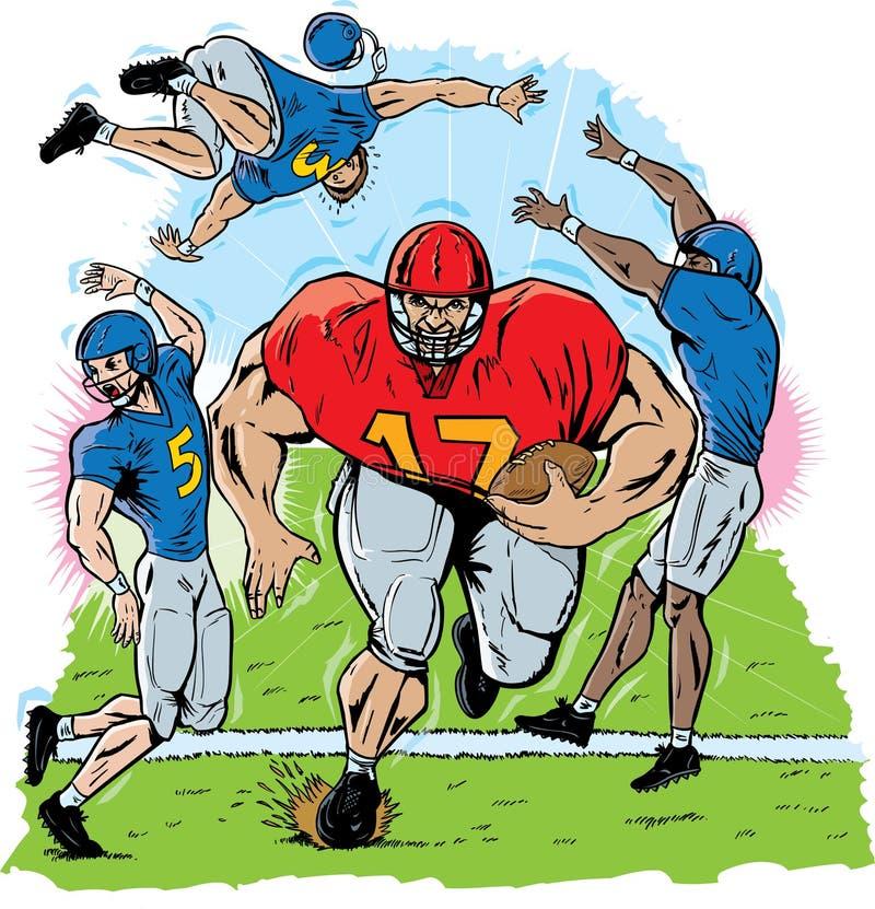 Riesiger Fußballspieler vektor abbildung