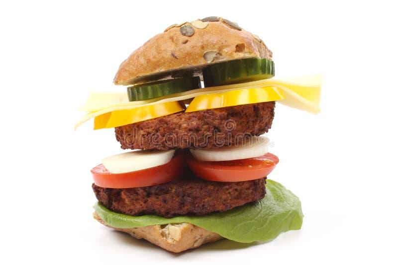 Riesiger Hamburger lizenzfreies stockbild
