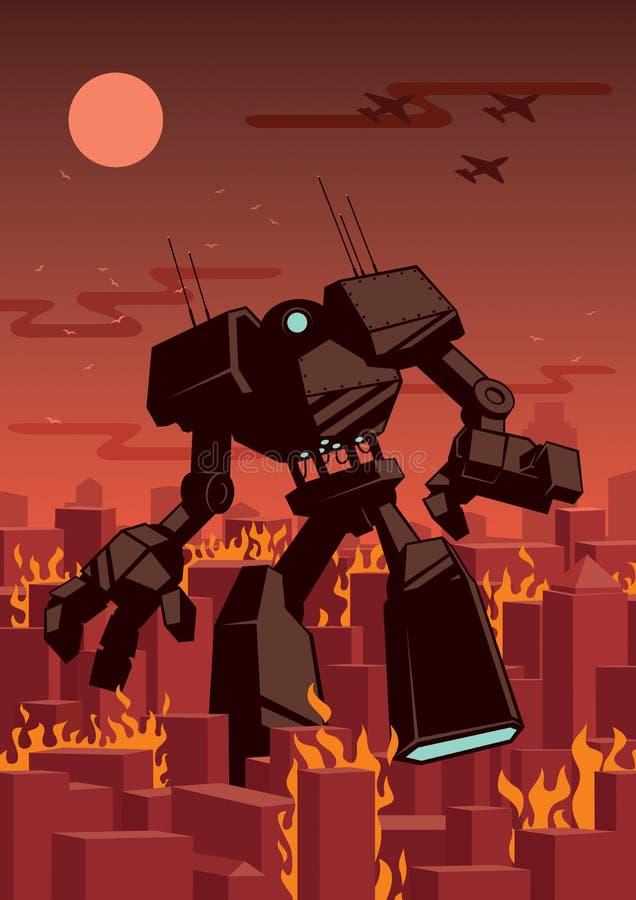 Riesiger Roboter lizenzfreie abbildung