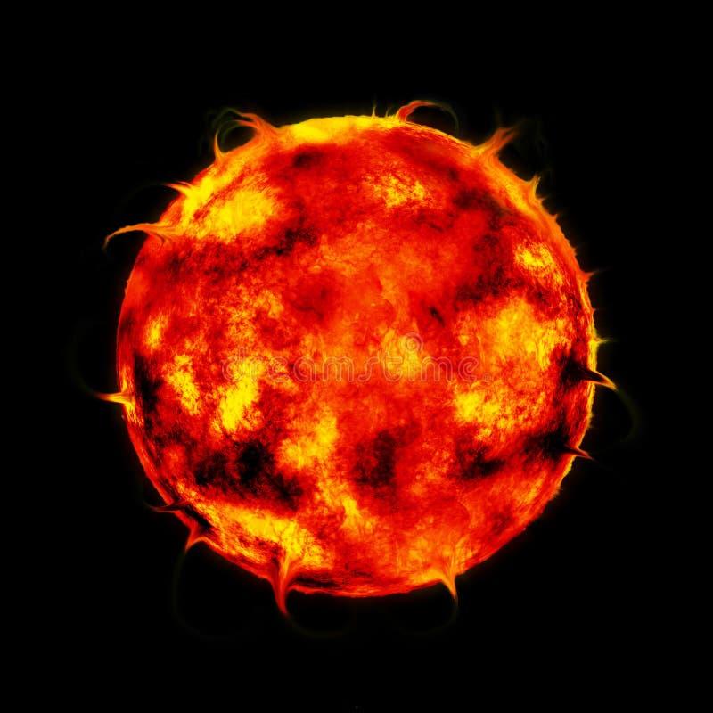 Riesiger roter Stern stock abbildung