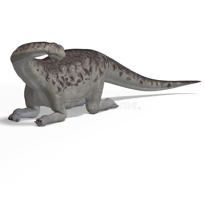 Riesiges Dinosaurier camasaurus mit Ausschnitts-Pfad vorbei lizenzfreie abbildung