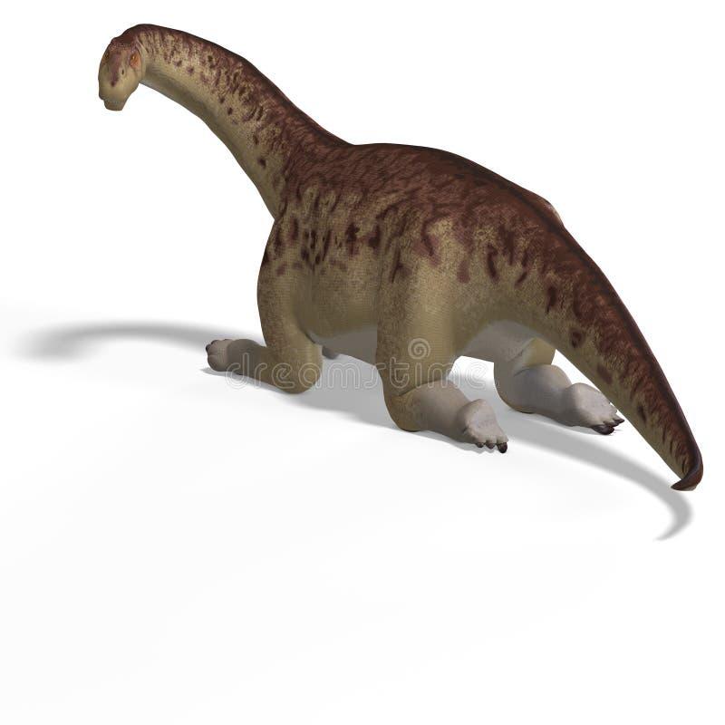 Riesiges Dinosaurier camasaurus mit Ausschnitts-Pfad vorbei vektor abbildung