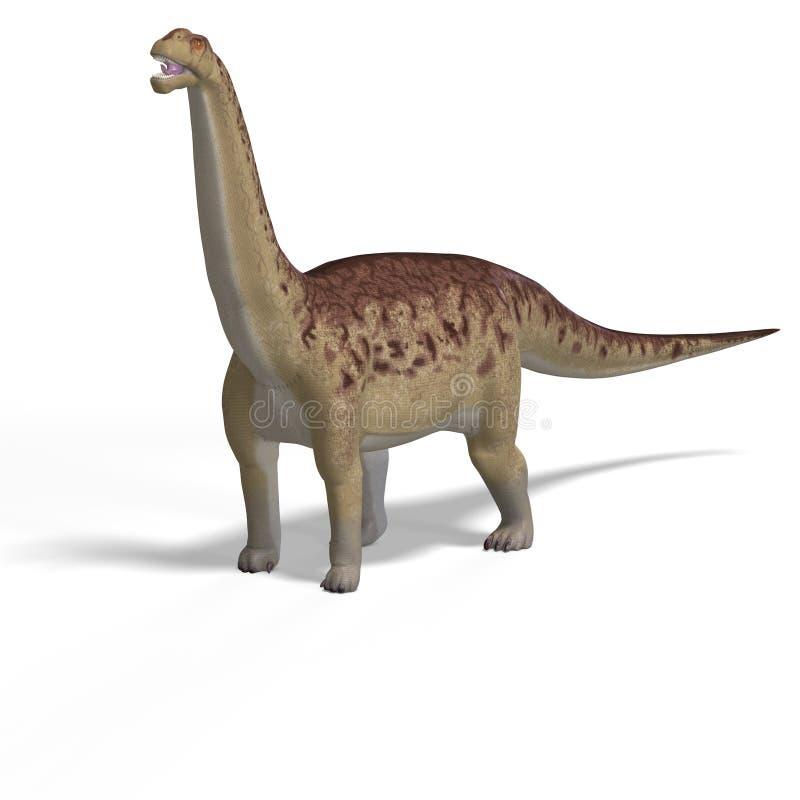 Riesiges Dinosaurier camasaurus mit Ausschnitts-Pfad vorbei stock abbildung