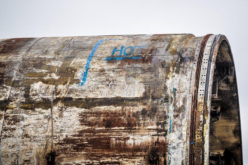Riesiges Eisenrohr stockbilder