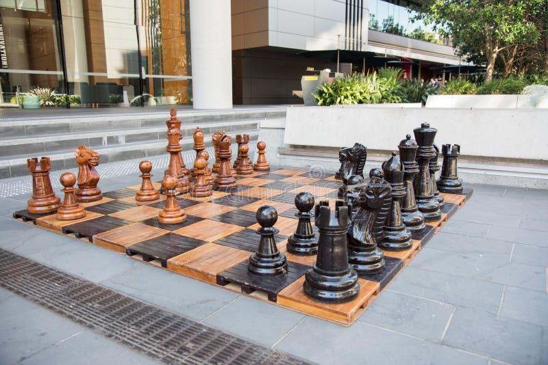 Riesiges Schach bei Darling Harbour lizenzfreie stockbilder