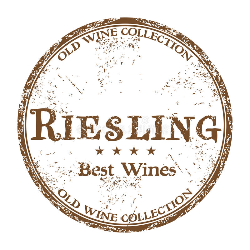 Riesling grunge rubber stamp stock photos