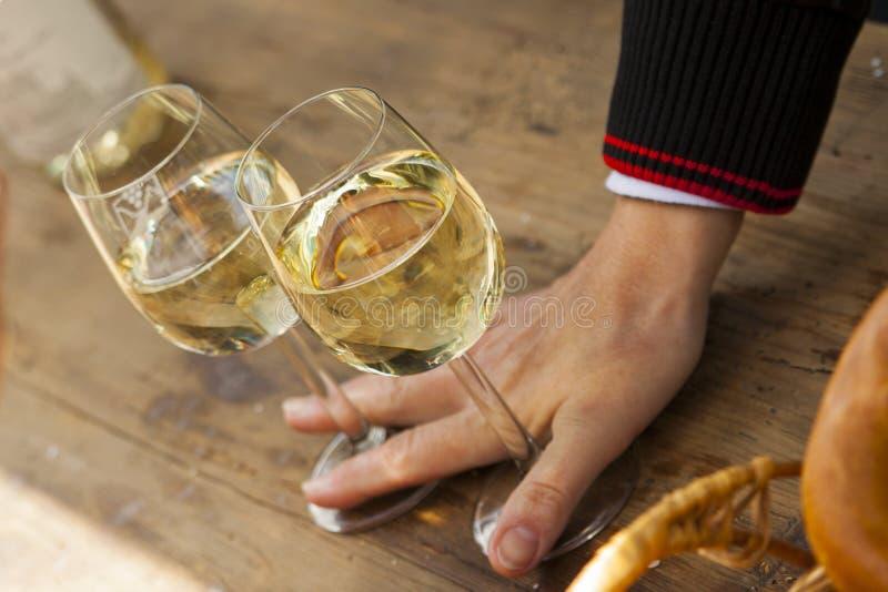 Riesling på winefestivalen royaltyfria foton
