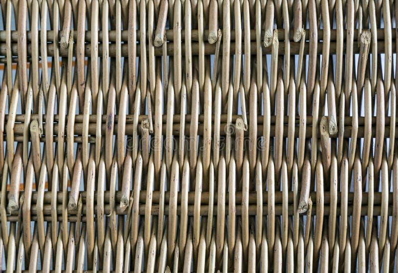 Rieten die panelen van takjes worden gemaakt stock fotografie