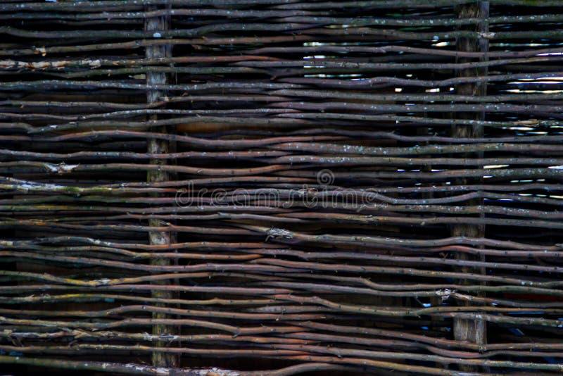 Rieten element van de omheining Ecologische natuurlijke achtergrond stock foto