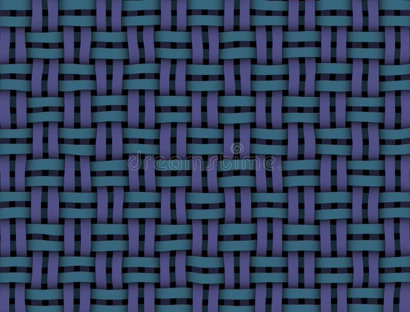 Rieten textuur blauw-purple royalty-vrije illustratie