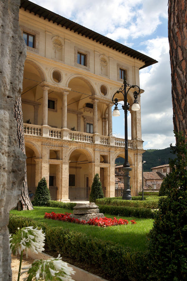 Rieti. Landscape of the old city of rieti in italy stock photo
