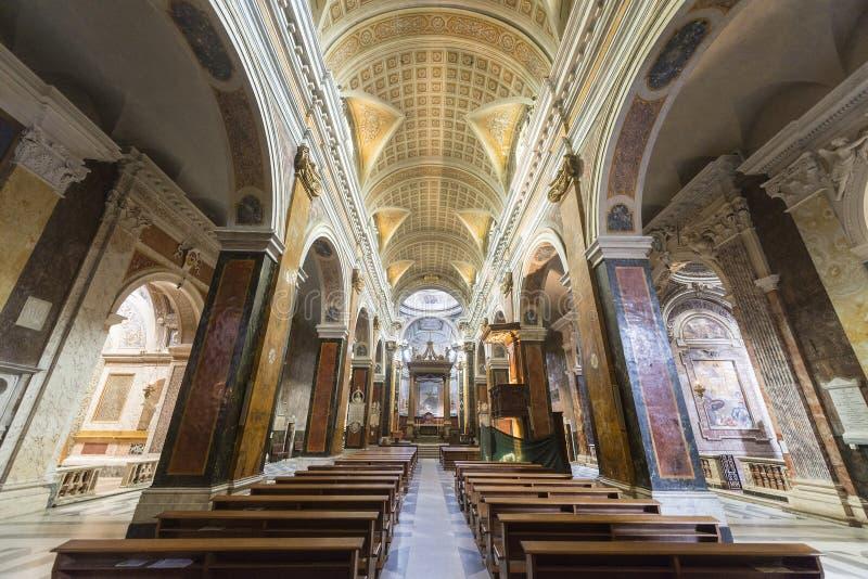 Rieti (Italy), cathedral interior stock photos