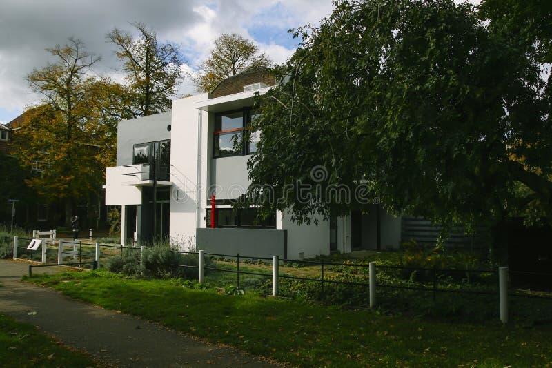 The Rietveld house in Utrecht stock image