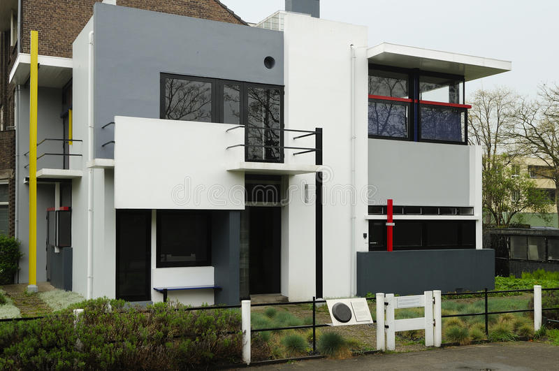Rietveld schroderhaus, south east view stock photography