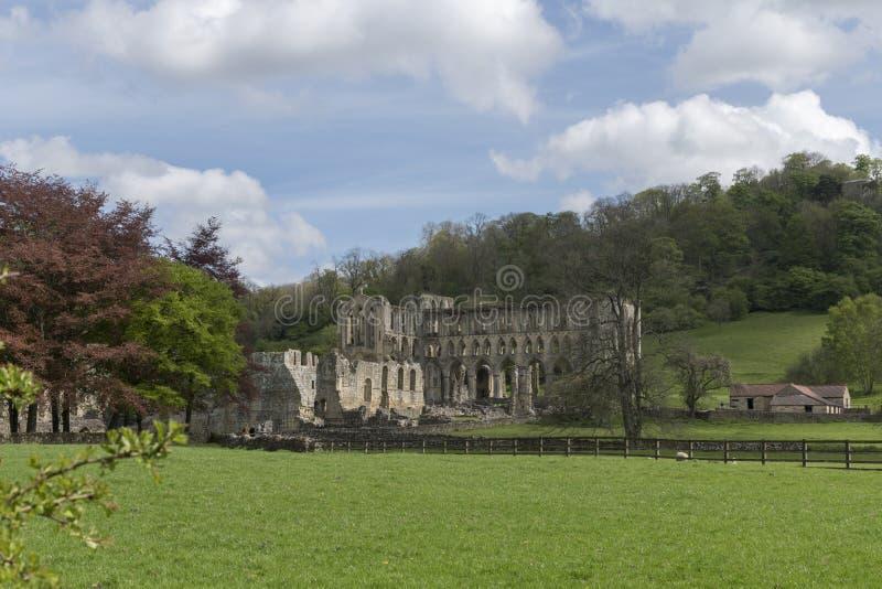 Rievaulx修道院,北约克郡停泊,北约克郡,英国 库存照片