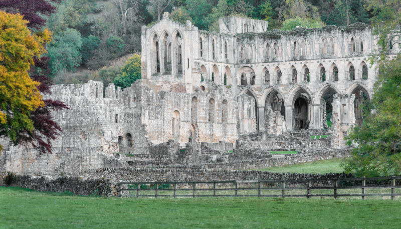 Rievaulx abbey royalty free stock image