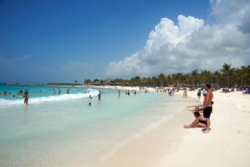 Rieviera Maya beach and ocean