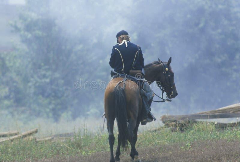 Rievocazione storica della battaglia di Manassas, segnante l'inizio della guerra civile, la Virginia immagini stock