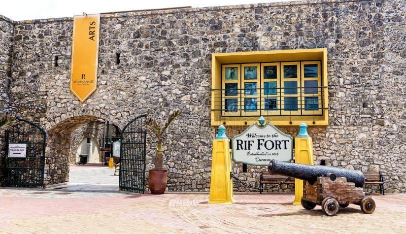 Rif Fort 1828 en Curaçao fotos de archivo libres de regalías