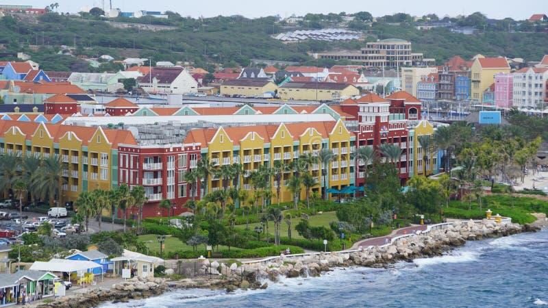 Rif Fort en Willemstad, Curaçao foto de archivo
