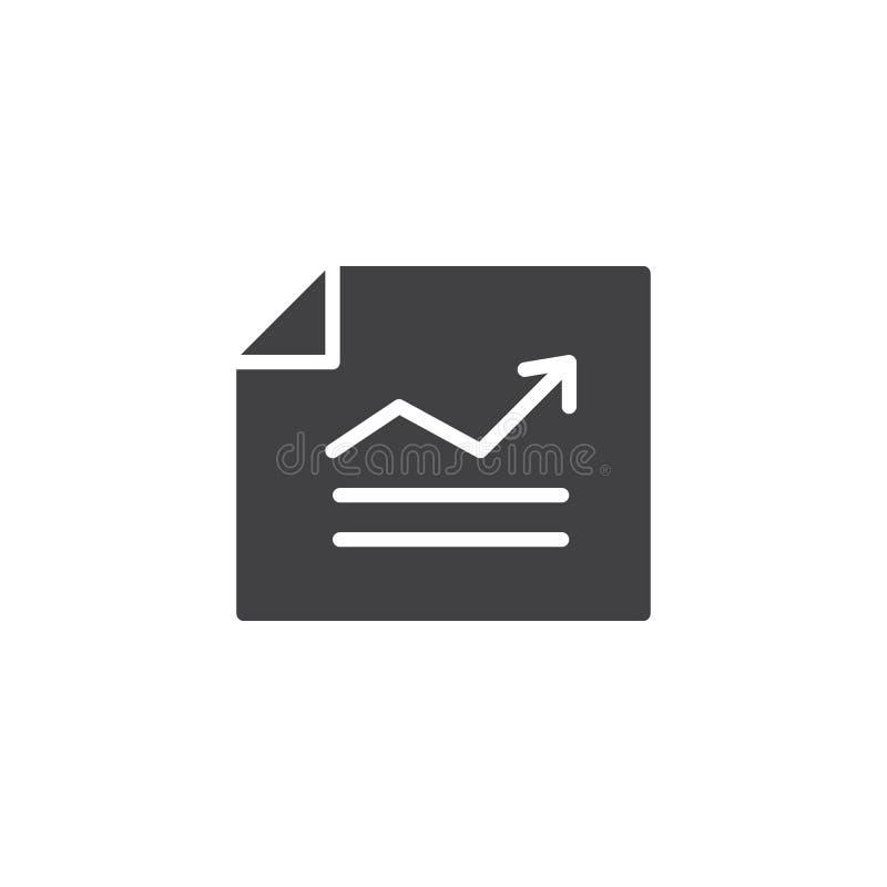 Riferisca con l'icona di vettore del grafico royalty illustrazione gratis