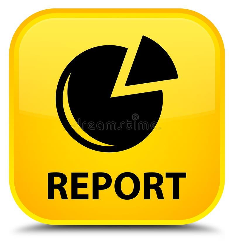 Riferisca (icona del grafico) il bottone quadrato giallo speciale illustrazione di stock