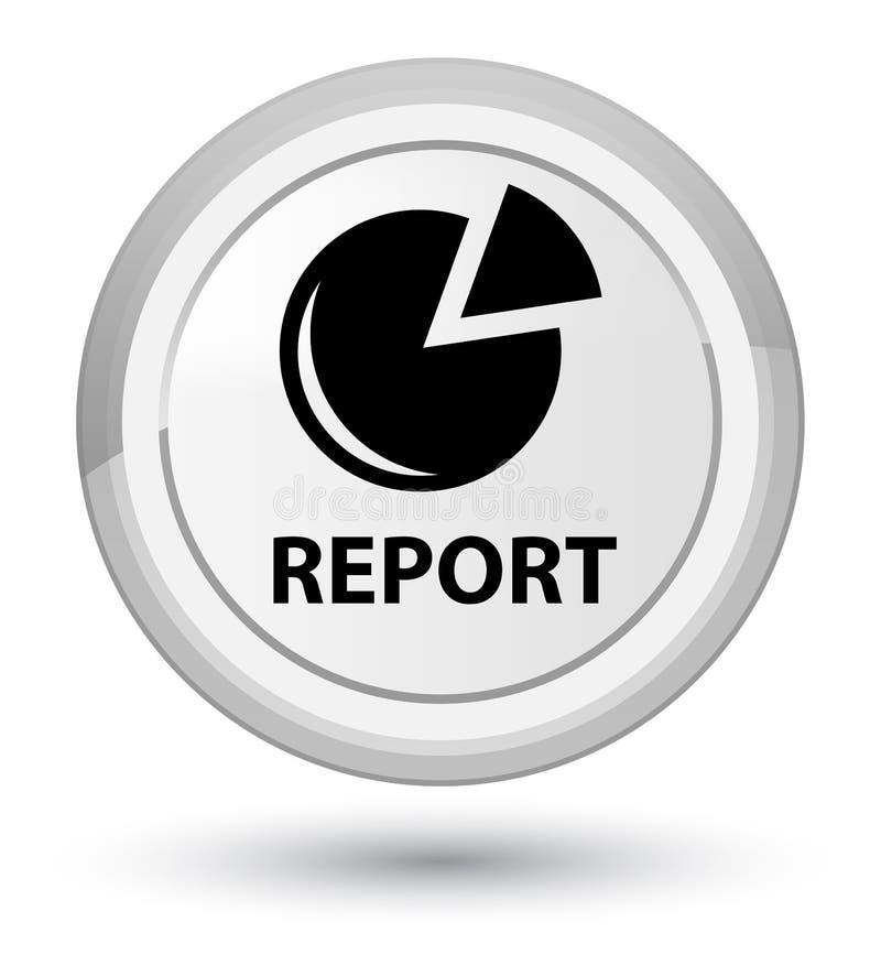 Riferisca (il bottone rotondo bianco di perfezione dell'icona del grafico) illustrazione di stock