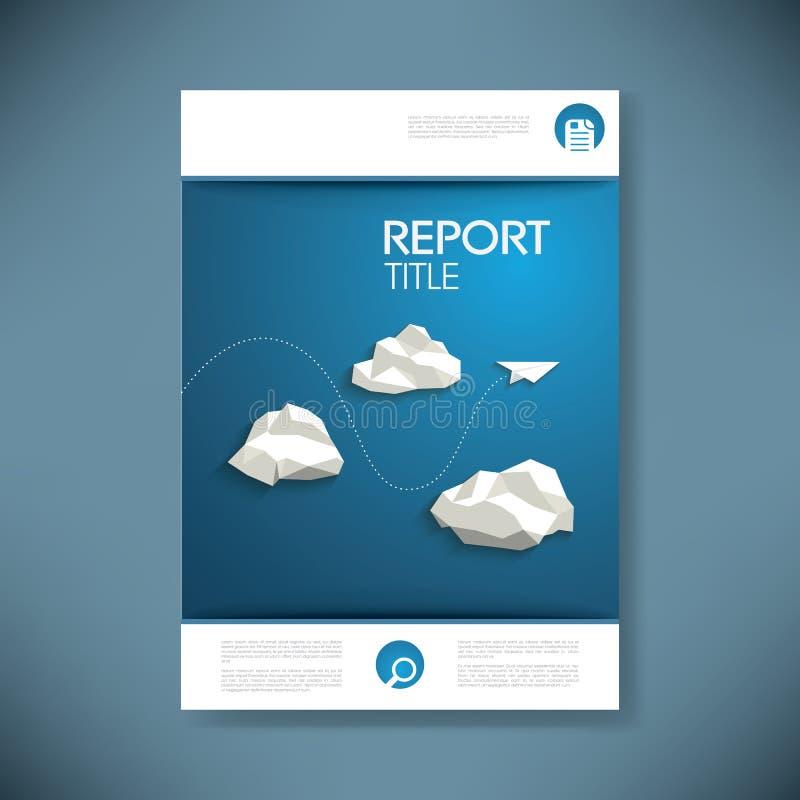 Riferisca il modello di copertura per la presentazione di affari o illustrazione di stock