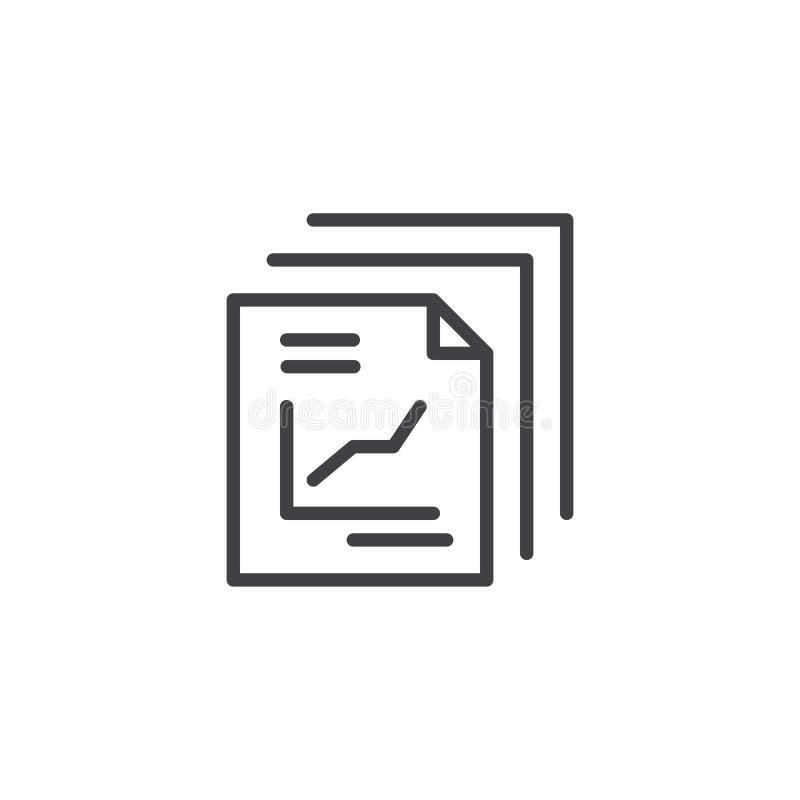 Riferisca l'icona del profilo del documento illustrazione di stock