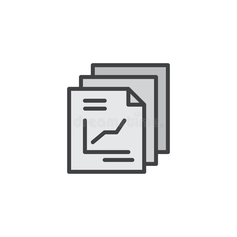Riferisca l'icona del profilo riempita documento illustrazione vettoriale