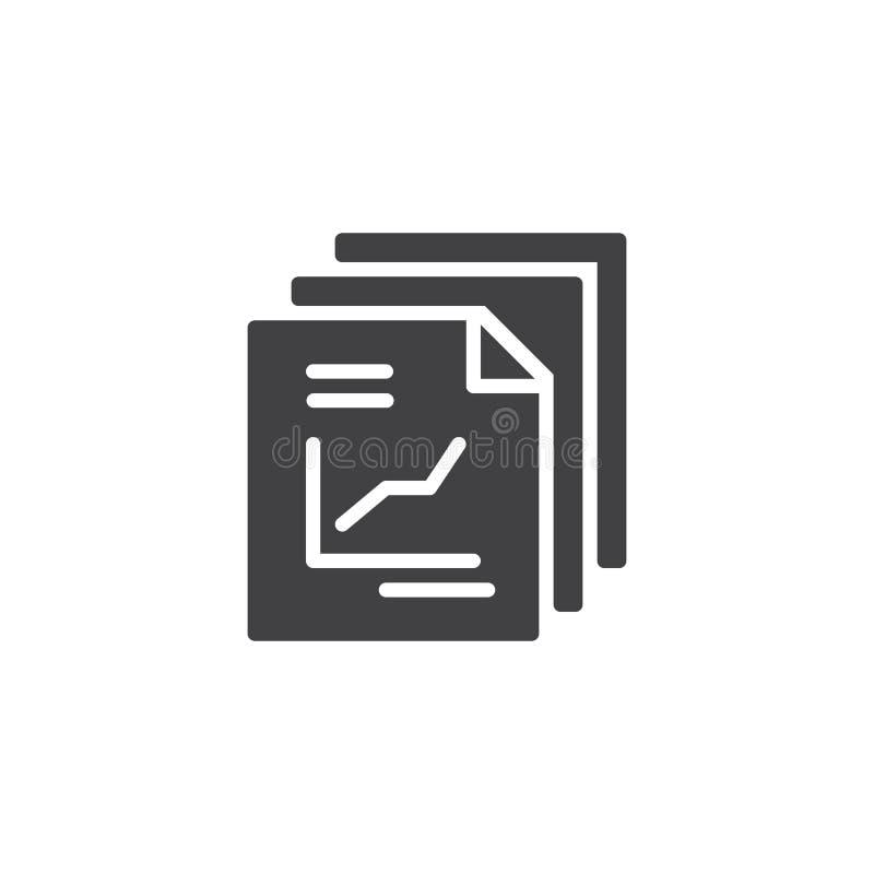 Riferisca l'icona di vettore del documento illustrazione vettoriale