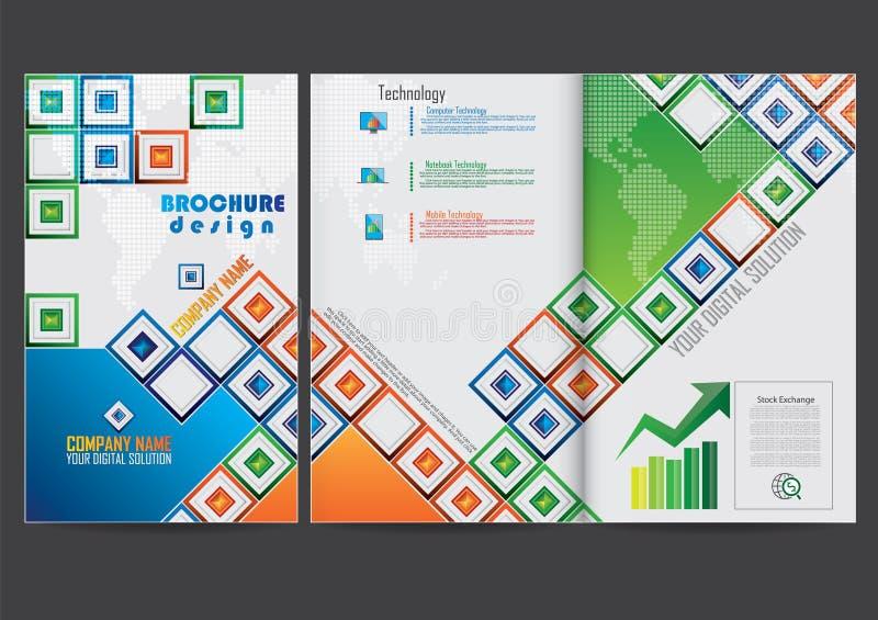 Download Riferisca La Progettazione Di Broschure Della Copertura Illustrazione Vettoriale - Illustrazione di scomparto, grafico: 56885586