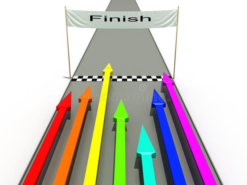 Rifinisca con le frecce colorate â3 illustrazione di stock