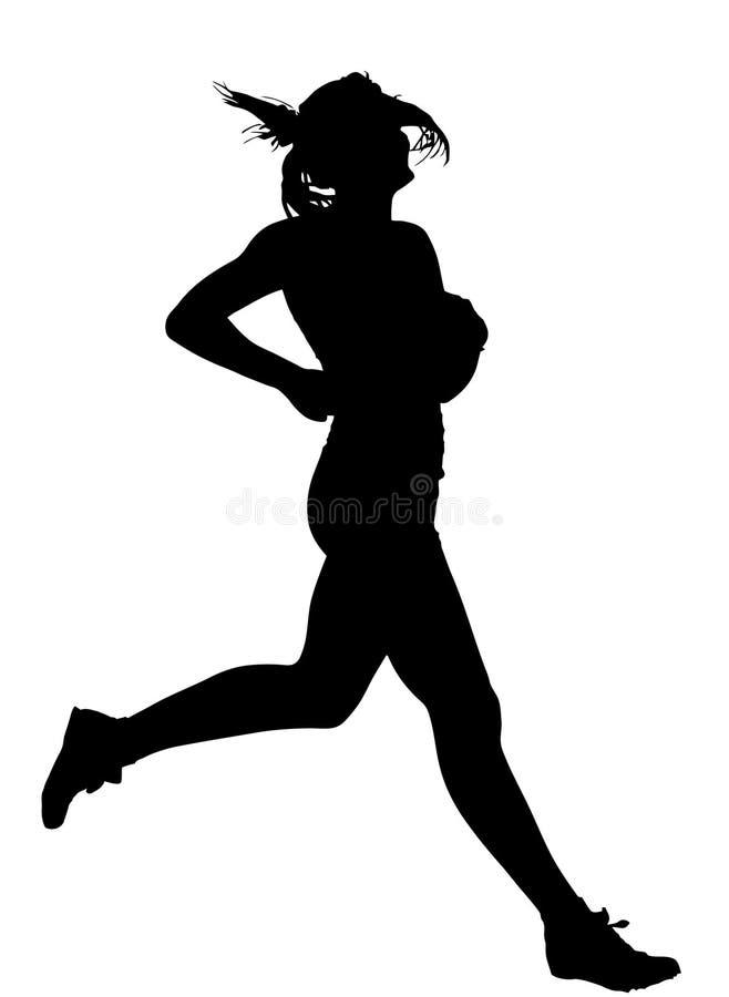 Rifinitura femminile d'accelerazione del corridore della pista illustrazione vettoriale