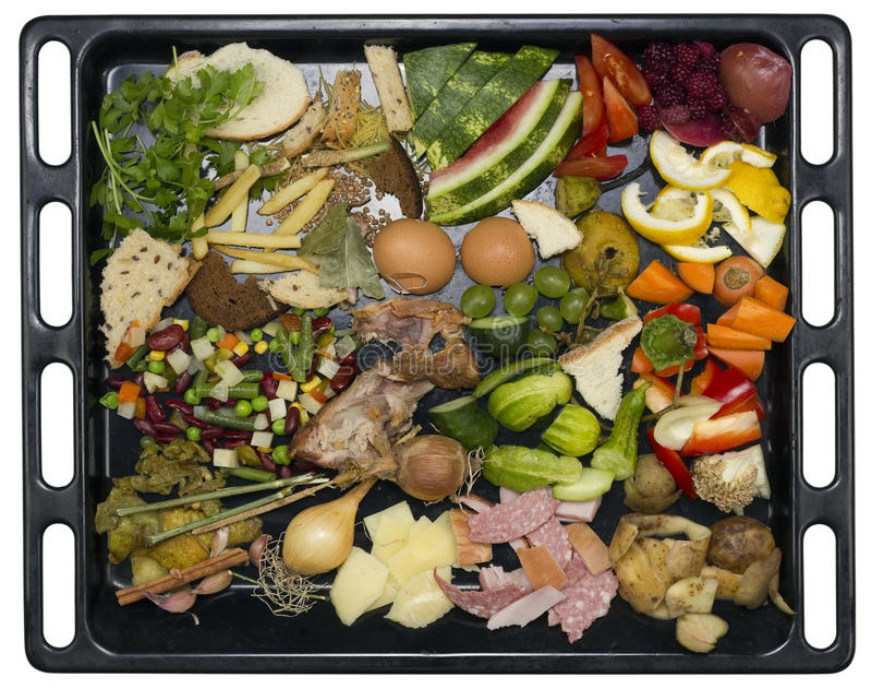 Rifiuti alimentari della cucina immagine stock libera da diritti
