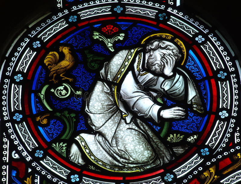 Rifiuto di Gesù da St Peter fotografia stock