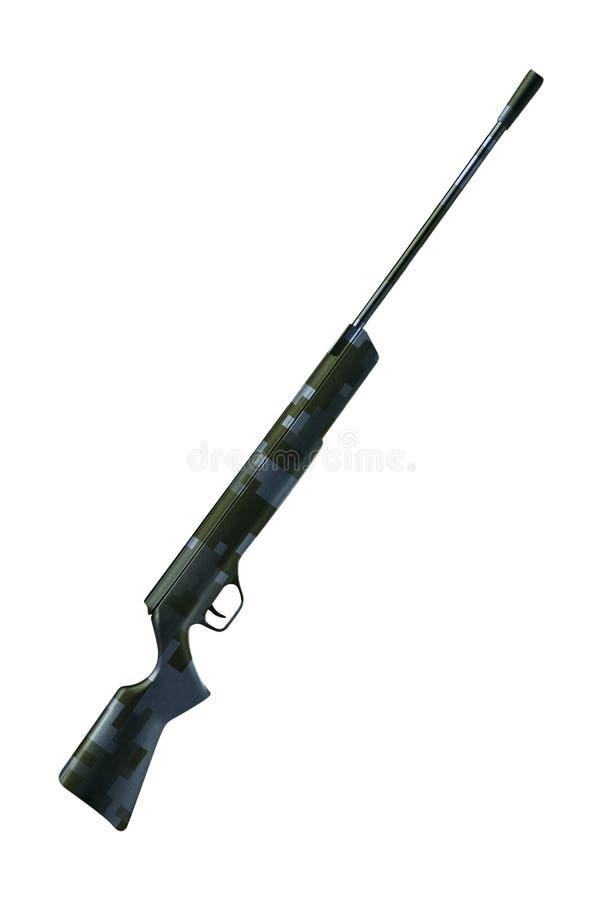Rifle aislado en Whie imagenes de archivo